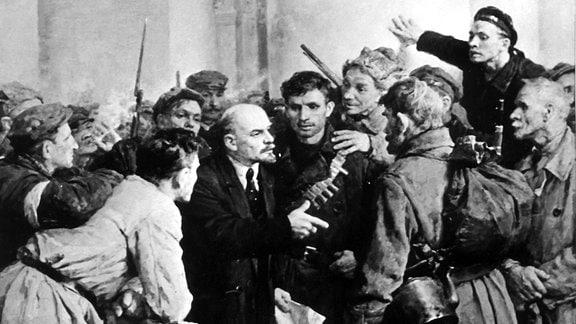 Februarrevolution 1917 Russland Gemälde Lenin