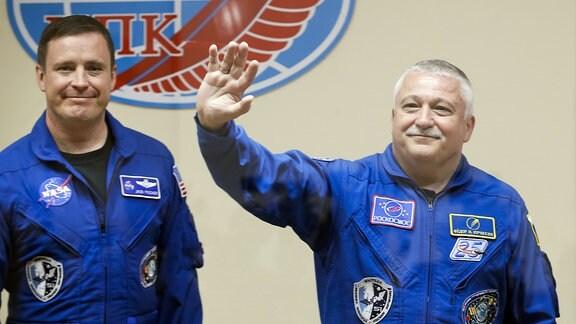 US-Astronaut Jack Fischer und der russische Kosmonaut Fjodor Jurtschichin