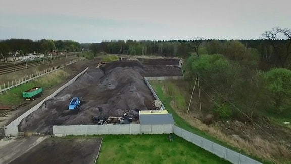 Eine Mülldeponie