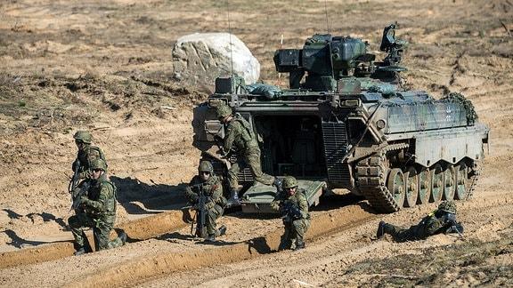Deutsche NATO-Soldaten bei Übung in Litauen