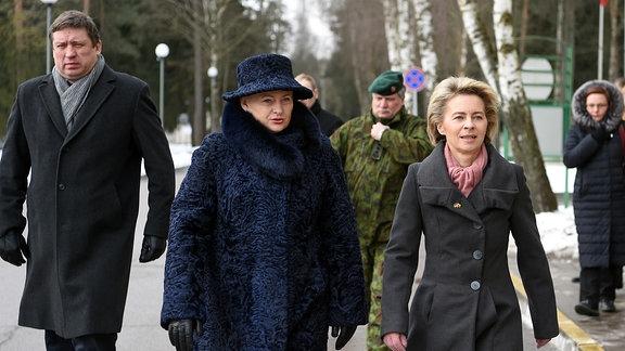 Von der Leyen und Litauens Präsidentin Grybauskaitė