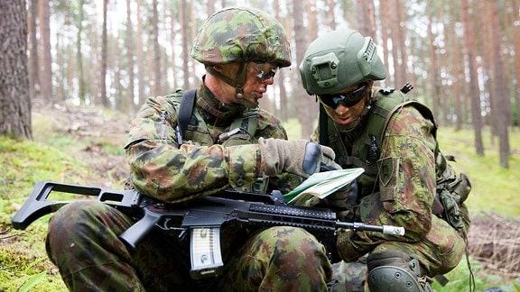 Soldaten bei Übung in Litauen