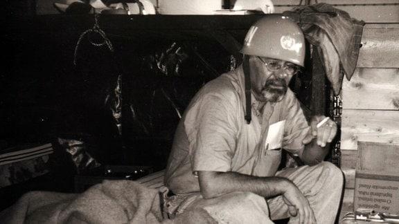Jürgen Angelbeck während der dramtischen Rettungsaktion 1992