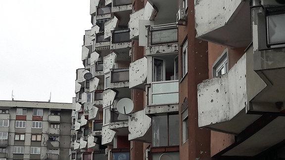 Kriegsspuren in Sarajevo