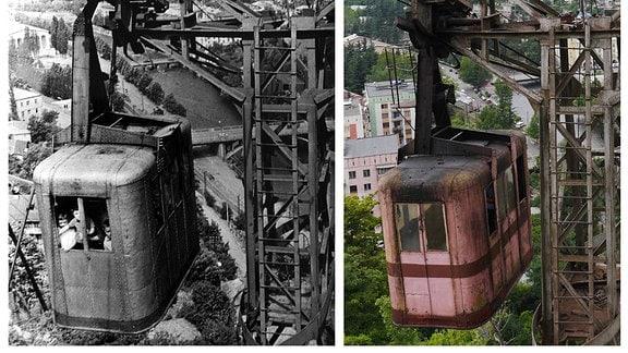 ein Fotovergleich aus den 1950er Jahren und von 2013