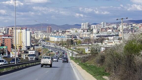 Stadtansicht von Pristina