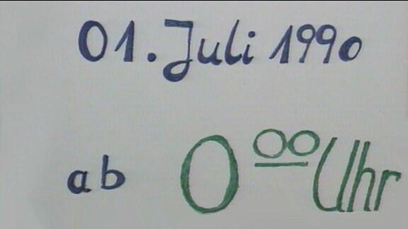 1. Juli 1990 ab 0.00 Uhr