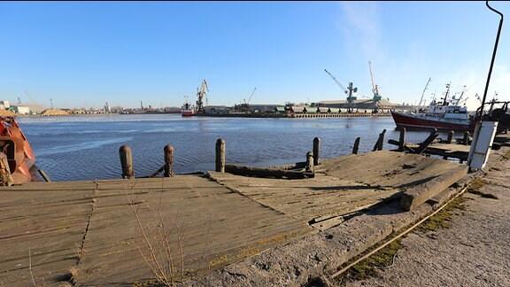 Die Hafenstadt Liepaja in Lettland