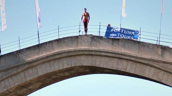 Brückenspringer von Mostar.