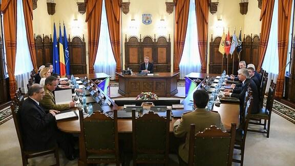 Treffen des Obersten Verteidigungsrates Rumäniens (CSAT) in Bukarest