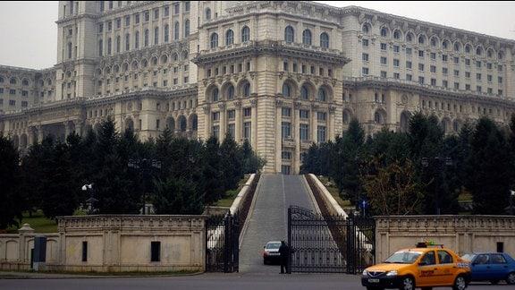 Der ehemalige Präsidentenpalast Ceausescus in Bukarest