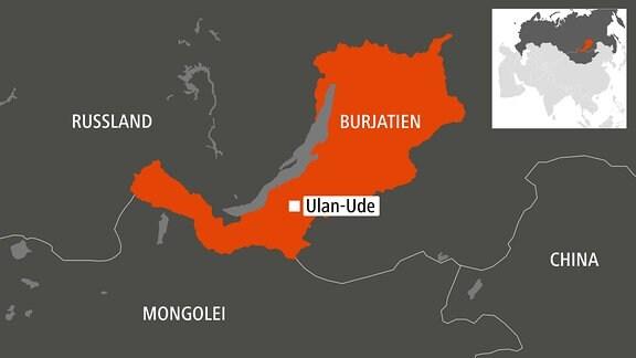 Karte Burjatien