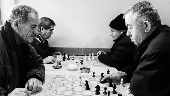 Das Cafe Klub Schach in Pristina (Kosovo)