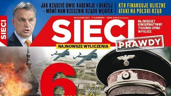 Cover der polnischen Zeitung Sieci Prawdy