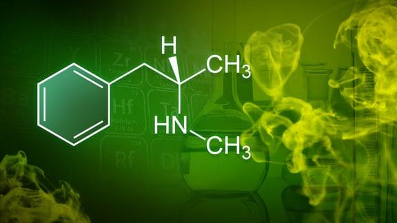 Ausschnitt aus dem Periodensystem der Elemente, davor Rauch