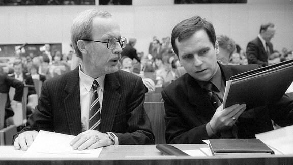 Lothar de Maiziere und Günther Krause.