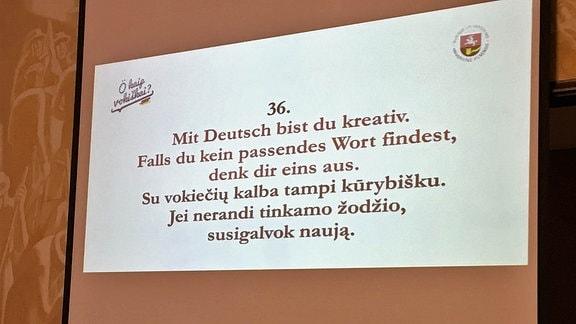 Deutsch in Litauen