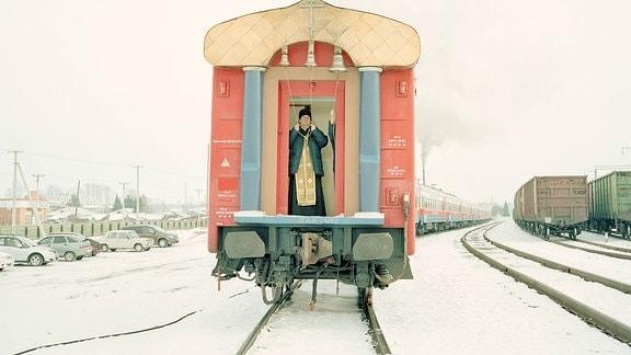 Namenspatron füˆr den Klinikzug ist der Heilige Lukas, ein Priester und Arzt, der zu Zeiten des Zweiten Weltkriegs in der Region Krasnojarsk wirkte.