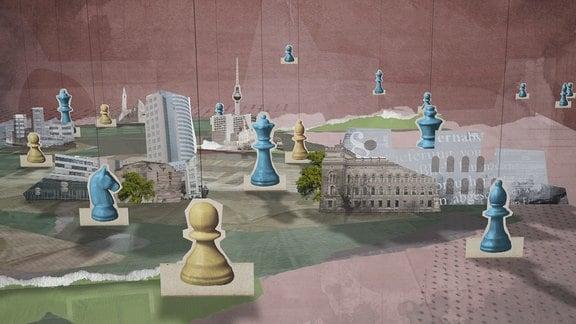 Grafik mit Schachfiguren