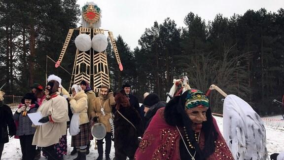 Frauenfigur Morė bei Fasching in Litauen