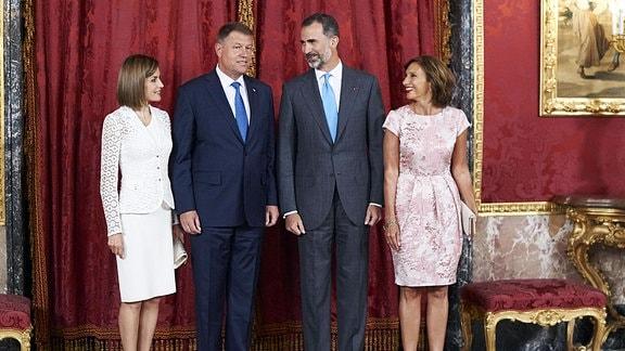 Klaus Werner Iohannis und Frau Carmen Iohannis zu Gast im Spanischen Königshaus.
