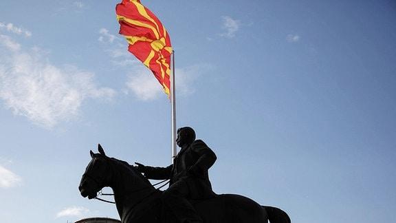 Flagge Frühere jugoslawische Republik Mazedonien