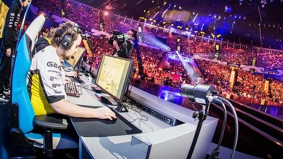 Gamer beim E-Sports Turnier in Kattowitz.