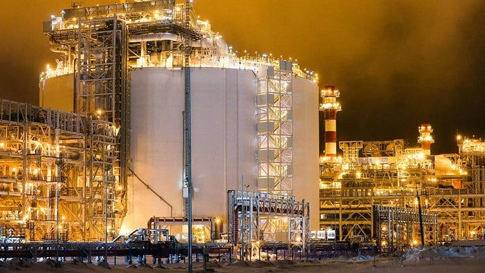 Eine Anlage für verflüssigtes Erdgas in Sabetta.