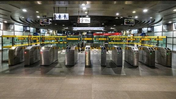 leere U-Bahn-Station