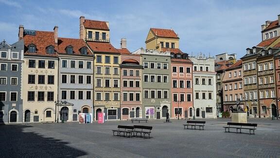leere Innenstadt in Warschau