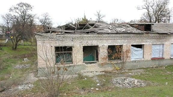 zerstörte Schule