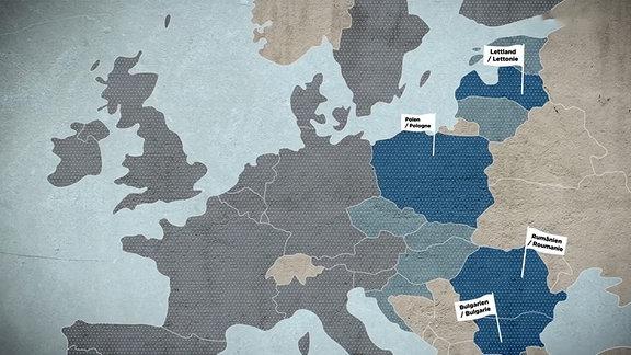 Grafik zu Abwanderung aus den neuen EU-Ländern