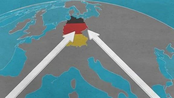 Grafik zu Zuwanderung aus EU-Staaten nach Deutschland