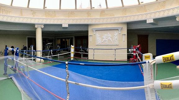 Sportraum im Janukowitsch-Anwesen. Boxring.