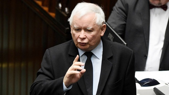 Jaroslaw Kaczynski im Sejm.