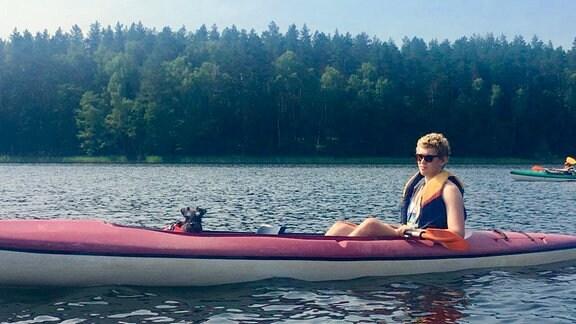 Kanus auf dem Wasser.