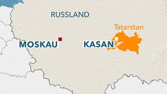 Karte Tatarstan