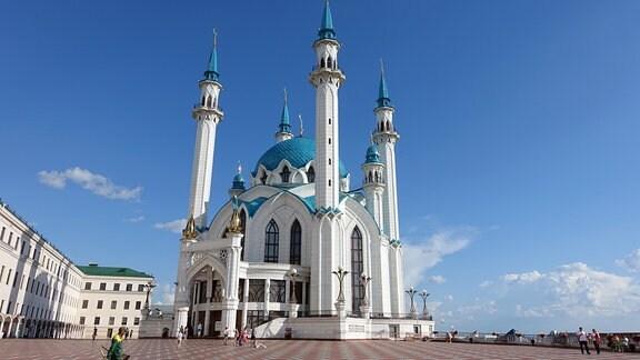 Die Kul- Sharif Moschee auf dem Kazaner Kreml.