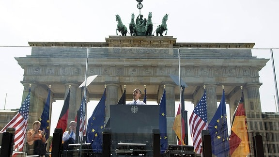 Obama am Brandenburger Tor 2013