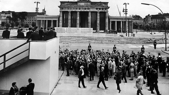 John F. Kennedy am 26. Juni 1963 in West-Berlin