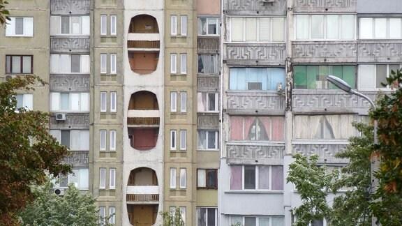 Plattenbauten in Kiew.