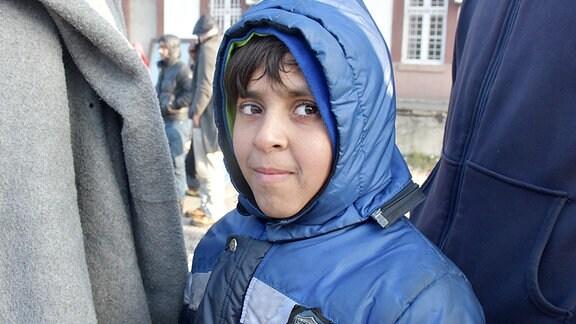 Kind im Flüchtlingslager, Belgrad