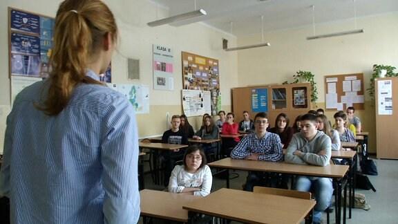 Religionsunterricht in polnischer Schule.
