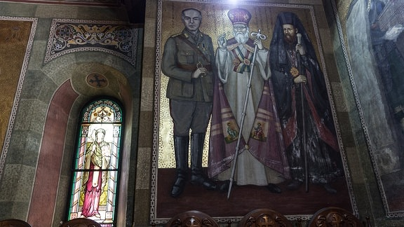 Versetzung von Sankt-Nikolaus-Kirche des Klosters Mihai Voda im Jahr 1985