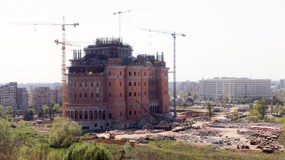 Bau der Kathedrale der Erlösung des rumänischen Volkes in Bukarest