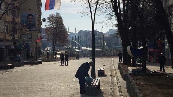 Fußrgängerzone Nord-Mitrovica