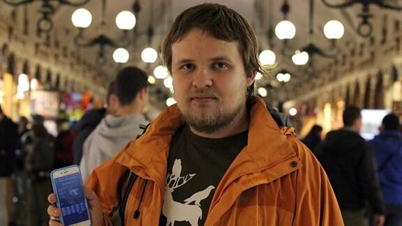 Michał Apanowicz, Entwickler der SmokSmog-App.