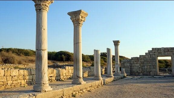 Die Ruinen von Chersonesos Taurica auf der Krim.
