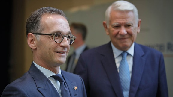 Heiko Maas mit Teodor Melescanu