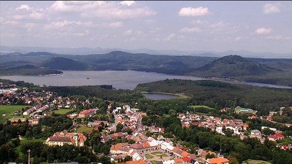 Impressionen vom Mácha-See in Nordböhmen.